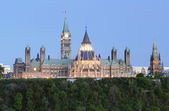 Parliament Hill Canada at Dusk — Stock Photo