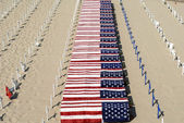 Coffins On The Beach -War Protes — Stock Photo