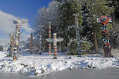 Totem Poles - Stanley Park — Stock Photo