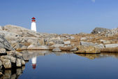 Peggy koyu, nova scotia - deniz feneri — Stok fotoğraf