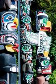 Stanley Park, Totem Poles - Vancouver, Canada — Stock Photo