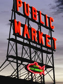 Seattle Fish market — Stock Photo