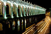 Nocturnal Plaza de Armas, Arequipa — Stock Photo