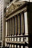 Wall Street Stock Exchange (Christmas Time) — Stock Photo