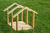 Dog House Wood Frame — Stock Photo