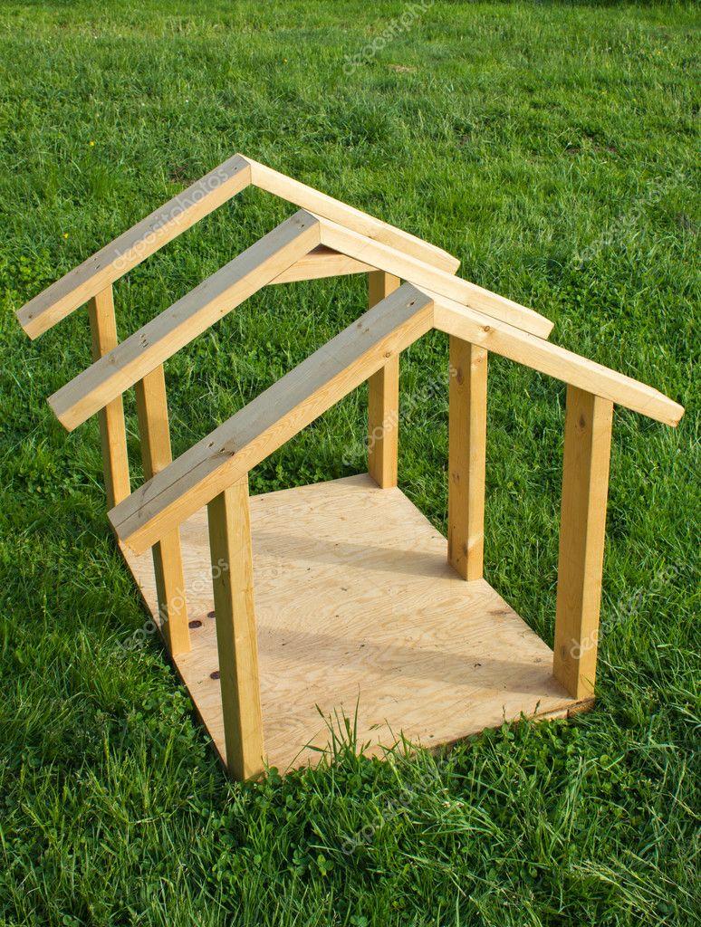 Dog House Wood Frame Stock Photo nbiebach 10841501