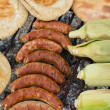 Outdoor Barbeque with smokies — Stock Photo #10919906