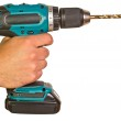 Man Holding Electric Power Drill — Stock Photo #11079189