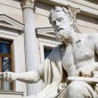 Vienna - philosopher statue for the Parliament - Xenophanes — Stock Photo