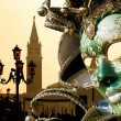 Venice - mask and SGiorgio di Maggiore chuch — Stock Photo #10740916