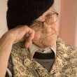 Dreeam of old woman - portrait — Stockfoto
