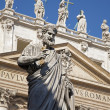 Rome - st. Peter s statue for st. Peter s basilica — Stock Photo #10741031