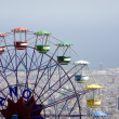 Stock Photo: Barcelon- big whell and outlook from Tibidabo
