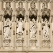 London - saints statue from west facade of Westminster abbey — Stock Photo