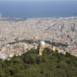 Stock Photo: Outlook over Barcelonfrom Tibidabo hill