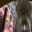 Pague - st. Vitus cathedral - interior in evening light - Stock Photo