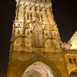 Prague - gothic Powder gate in the night — Stock Photo