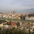 Stock Photo: Florence - outlook from PiazzMichelagelo