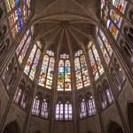 ������, ������: Paris interior of Saint Denis cathedral sanctuar windowpane