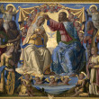 Stock Photo: Jesus Christ and coronation of holy mary - paint from Sienchurch SatMaridei Servi