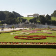 Vienna - Schonbrunn palace - garden and Gloriette — Stock Photo