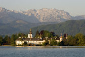 Austria - cloister by Gmunden and Traunsee lake — Stock Photo
