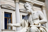 维也纳-议会-xenophanes 的哲学家雕像 — 图库照片
