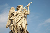 Rome - Angel with the Lance by Domenico Guidi, Ponte Sant'Angelo - Angels bridge — Stock Photo