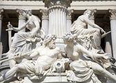 Vienna - detail from Palas Athena fountain — Stock Photo