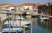 Venice - canal and houses from Murano island — Stok fotoğraf