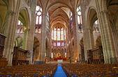 Paris - interior of Saint Denis cathedral — Stock Photo