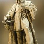 Vienna - Leonardo da Vinci statue from art museum facade — Stock Photo