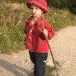 Little gril on walk — Stock Photo #10888306