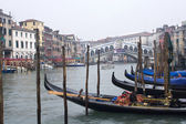 Venice - canal grande in winter — Stock Photo