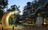 Paris - Pompidou center in morning — Stock Photo
