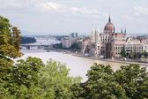 Будапешт - парламента от Хилл — Стоковое фото