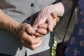 Hands of old womans — Stock Photo