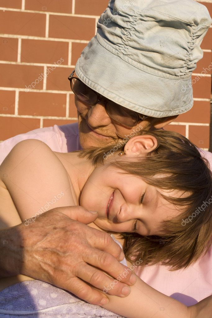 Love of grandmother and grandchild — Stock Photo #10887785