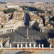 Rome - outlook from basilica di San Pietro to colonnade — Stock Photo #10890114