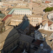 Rome - shadow of cupola of st. Peter s basilica - Stock Photo