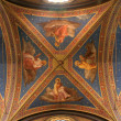 Rome - the Evangelists - fresco from roof of Santa Maria sopra Minerva church - Stock Photo