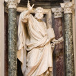 Rome - st. Peter statue in Lateran basilica - Stock Photo