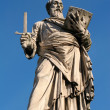Rome - st. Paul the Apostle statue from Angels bridge - Stok fotoğraf
