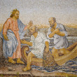 Rome - mosaic - miracle fishing from New Testament in basilica of st. Peters — Stock Photo