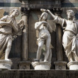 Baptism of christ - statue from Florence - baptistery of st. John — Stock Photo