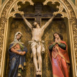 Bratislava - crucifixion from Martin s dom - carving - Stock Photo