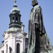 Prague - Jan Hus landmark by Jan Kotera,1915 - Stock Photo