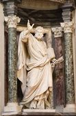 Rome - st. Peter statue in Lateran basilica — 图库照片