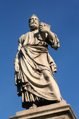 Rome - Saint Peter statue at Ponte Sant Angelo — Stock Photo