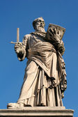 Rome - st. Paul the Apostle statue from Angels bridge — Stock Photo
